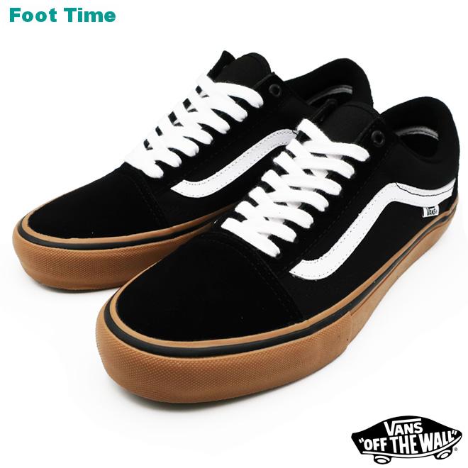 VANS OLD SKOOL PRO バンズ オールドスクール プロ  BLACK/WHITE/MIDIUM GUM ブラック/ホワイト/ミディアムガム  VN000ZD4BW9 メンズ靴 スニーカー