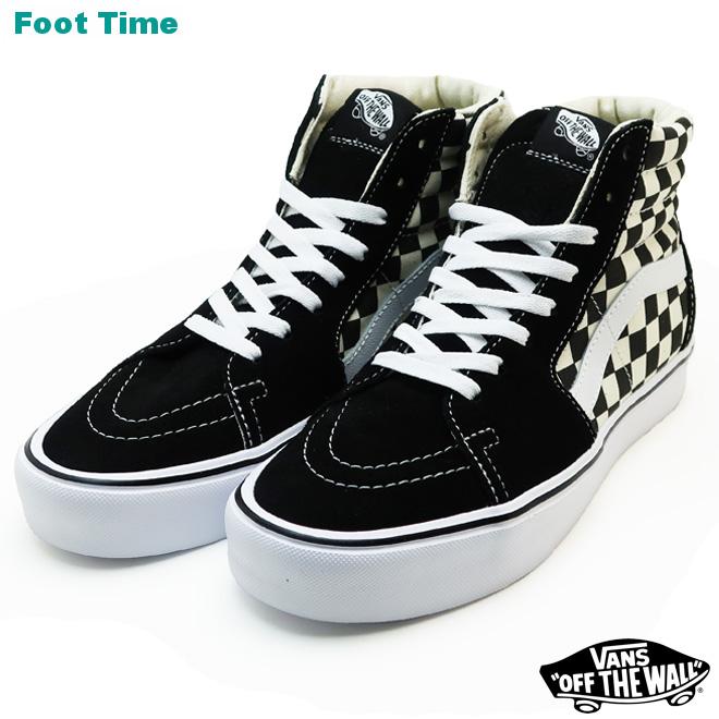 ddcc41d11a1 Vans skating highlight (checkerboard) VANS SK8-HI LITE (CHECKERBOARD) black    white BLACK WHITE VN0A2Z5Y5GX men sneakers