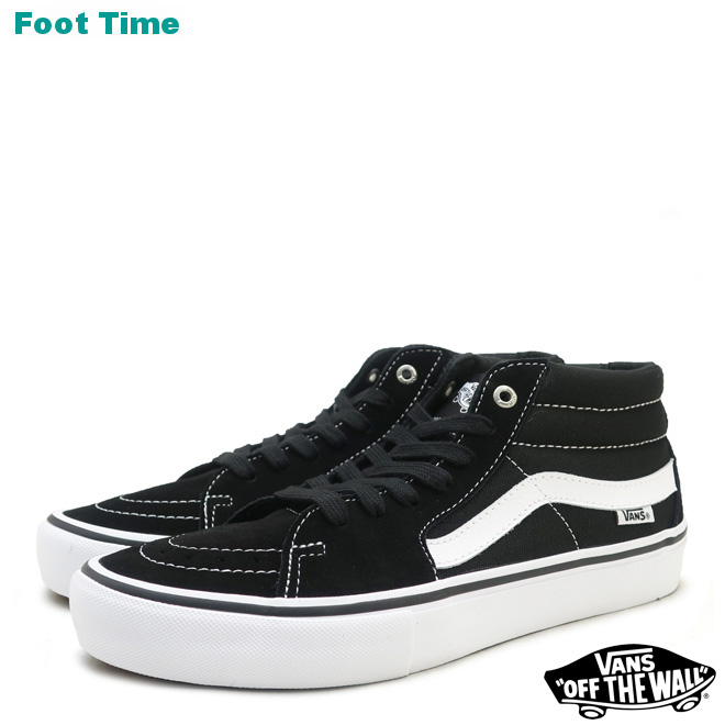 56fba315186d Vans skating mid pro VANS SK8-MID PRO black   white BLACK WHITE VN0A347UY28  men sneakers