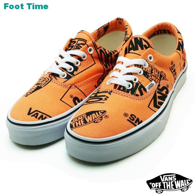 88b564687a70 Vans gills (logo mixture) VANS ERA (LOGO MIX) Tangerine   black TANGERINE  BLACK VN0A38FRU8K men sneakers