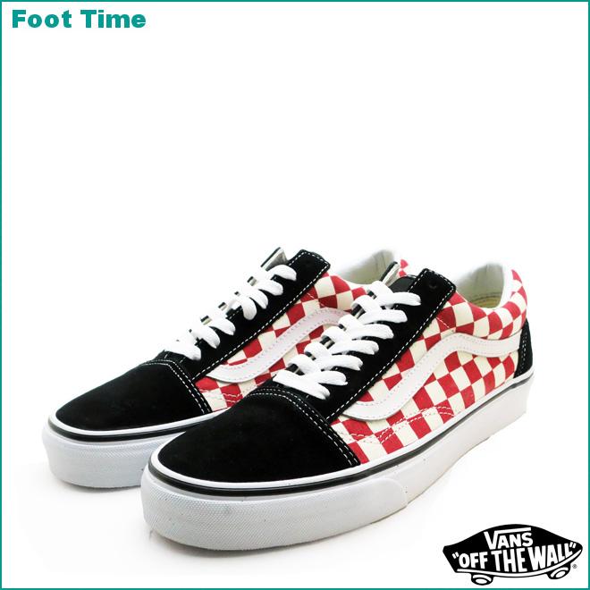 red checkerboard vans on feet nz