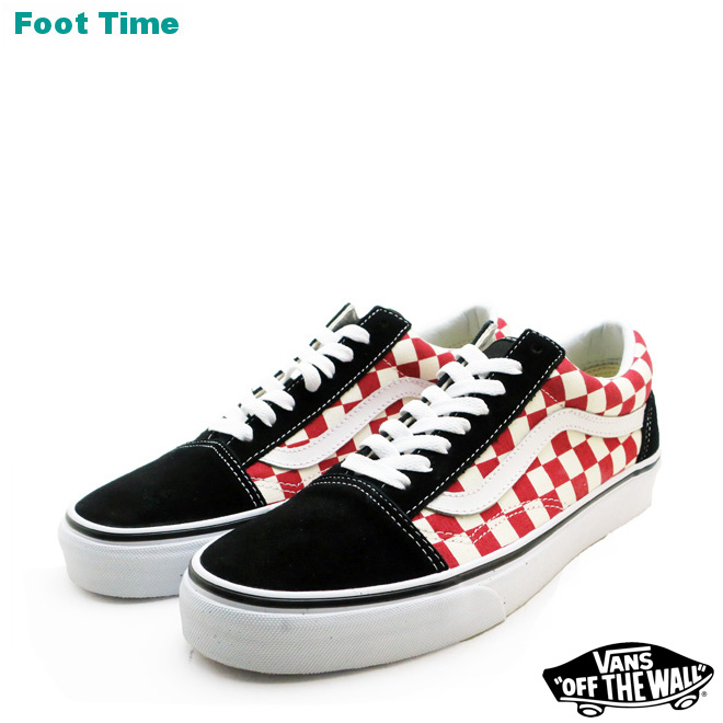 226902a939 Vans old school (checkerboard) VANS OLD SKOOL (CHECKERBOARD) black   red  BLACK RED VN0A38G135U men sneakers