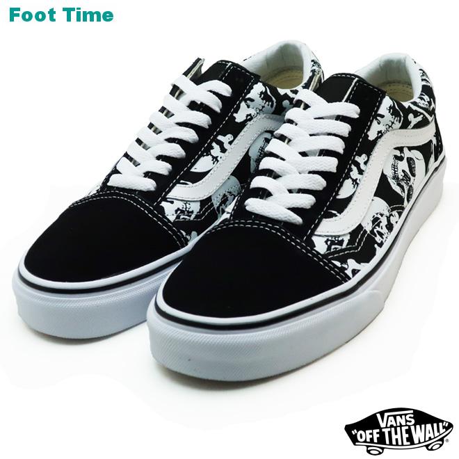 a3fda09019d Vans old school (scull) VANS OLD SKOOL (SKULLS) black   toe roux white BLACK TRUE  WHITE VN0A8G1H0B men gap Dis sneakers