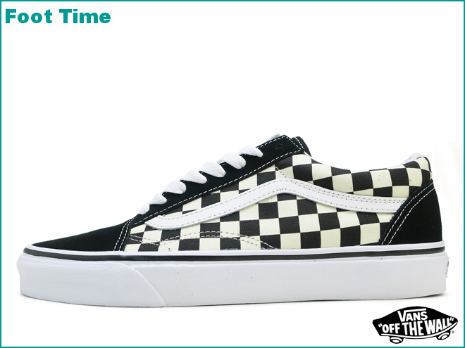 卡车老学校(初期检查)VANS OLD SKOOL(PRIMARY CHECK)黑色/白BLACK/WHITE VN0A38G1P0S人分歧D运动鞋