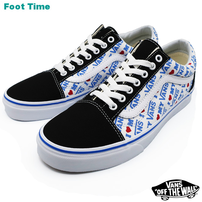VANS OLD SKOOL (I Heart Vans) vans old school (eye heart vans) BLACKTRUE WHITE black toe roux white VN0A38G1VR9 men shoes Lady's shoes sneakers