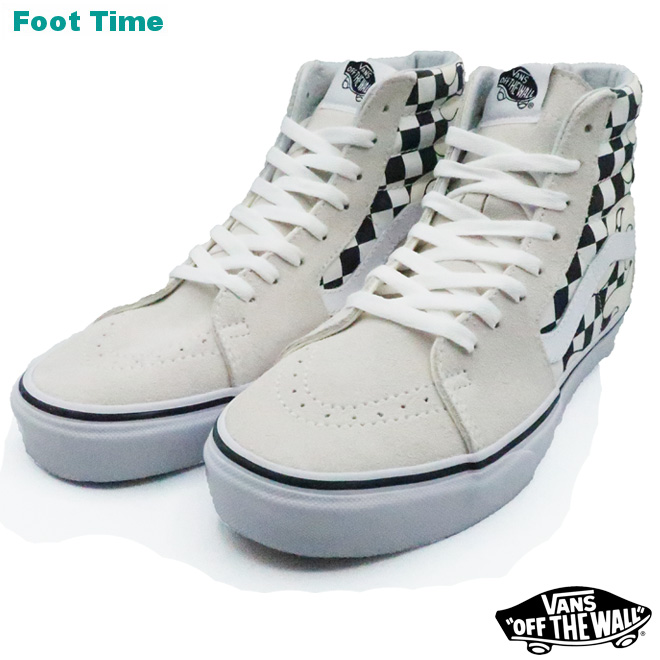 f8682a9e344a Vans skating high (checker frame) VANS SK8-HI (CHECKER FLAME) classical  music white   toe roux white CLASSIC WHITE TRUE WHITE VN0A38GERX7 men  sneakers