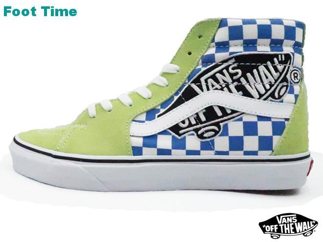 ffd2481d0ec Vans skating high (vans patch) VANS SK8-HI (VANS PATCH) sharp green   toe  roux white SHARP GREEN TRUE WHITE VN0A38GEUJY men sneakers