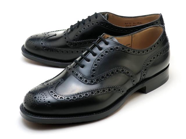 チャーチ バーウッド ポリッシュドバインダー 靴 ブラック ウィングチップ カーフ メンズ Church's Burwood Polished binder Black MADE IN ENGLAND