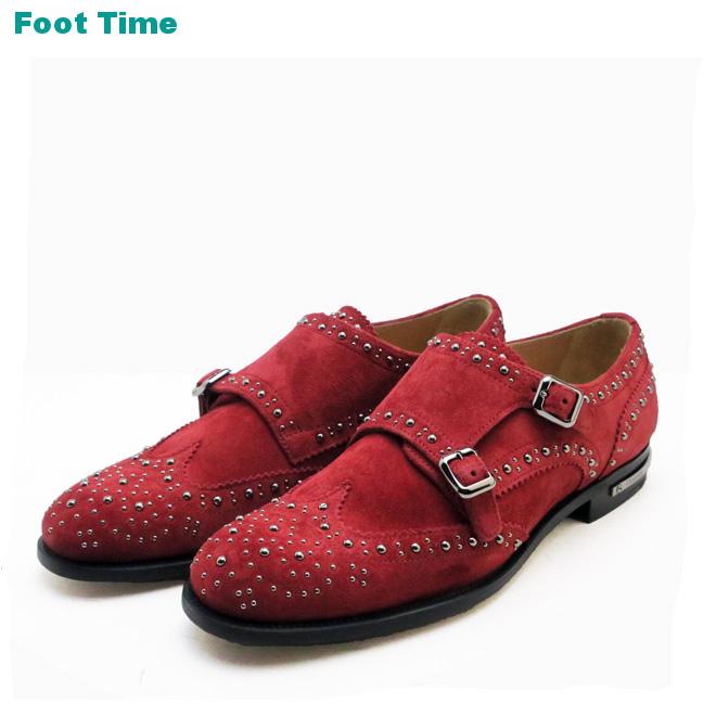 チャーチ ラナ MET.5 スカーレット Church's LANA MET.5 SCARLET ウイングチップ レディース スタッズ 靴 MADE IN ENGLAND 送料無料