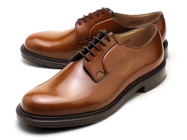 チャーチ シャノン ポリッシュドバインダー サンダルウッド  靴 ブラウン プレーントゥシューズ カーフ メンズ  Church's Shannon Polished binder Sandalwood  MADE IN ENGLAND