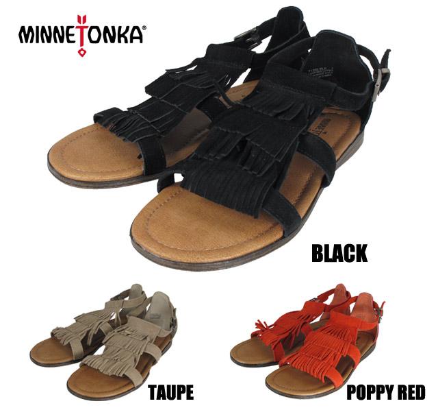Minnetonka Maui MINNETONKA MAUI 71302 BLACK/TAUPE/POPPY RED