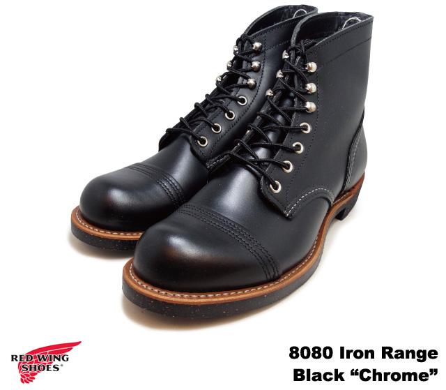 純正ケア用品2点プレゼント レッドウィング ブーツ アイアン レンジ 8080 ブラック クローム ワークブーツ レッドウイング RED WING Iron Range Black
