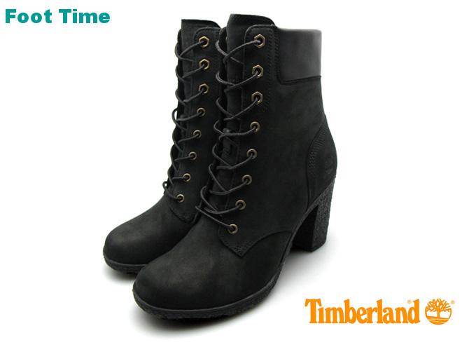ティンバーランド グランシー 6インチ ヒール ブーツ TIMBERLAND GLANCY 6INCH HEEL BOOT アースキーパーズ EARTHKEEPERS 8432A ブラック BLACK レディース ブーツ ヌバック