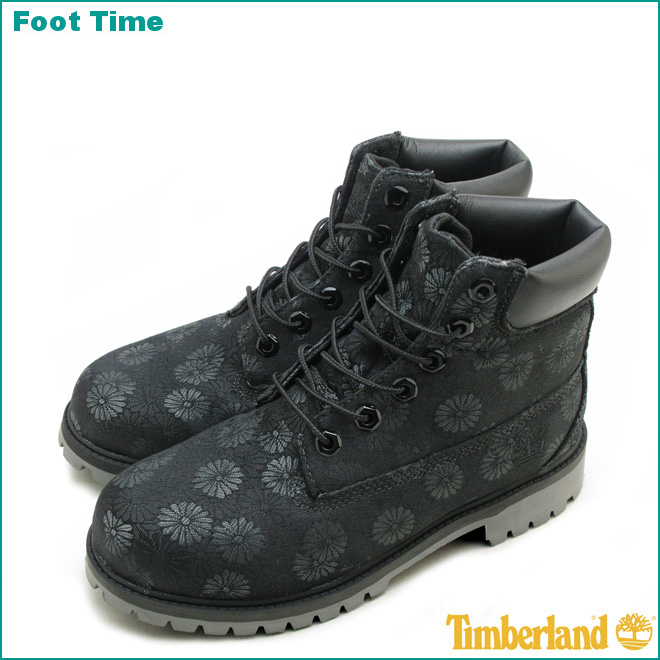 black timberland boots for juniors