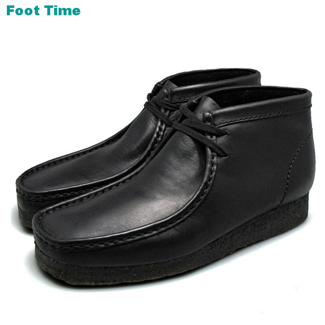 680bcc20d90 Clarks Wallaby boots CLARKS WALLABEE BOOT BLACK LEATHER black leather  26103666