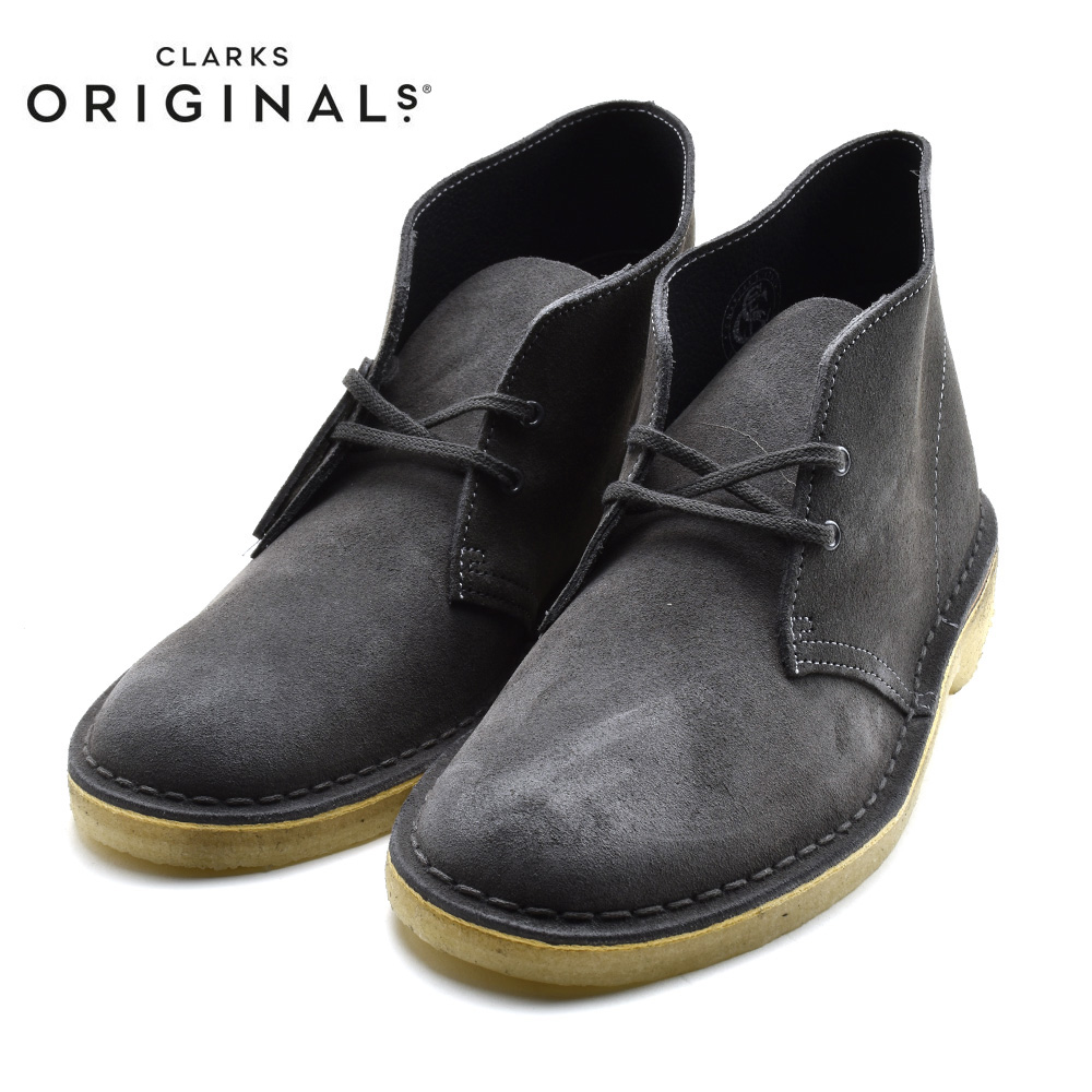 Clarks Originals Desert Boots Men/'s White Suede 26115228