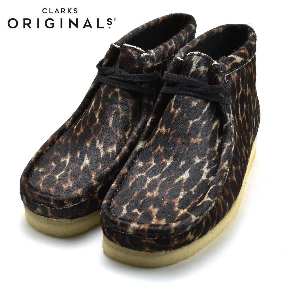 CLARKS WALLABEE BOOT クラークス ワラビー ブーツ BLACK ANIMAL PRINT ブラックアニマルプリント 26146759 靴 メンズ靴 カジュアル シューズ