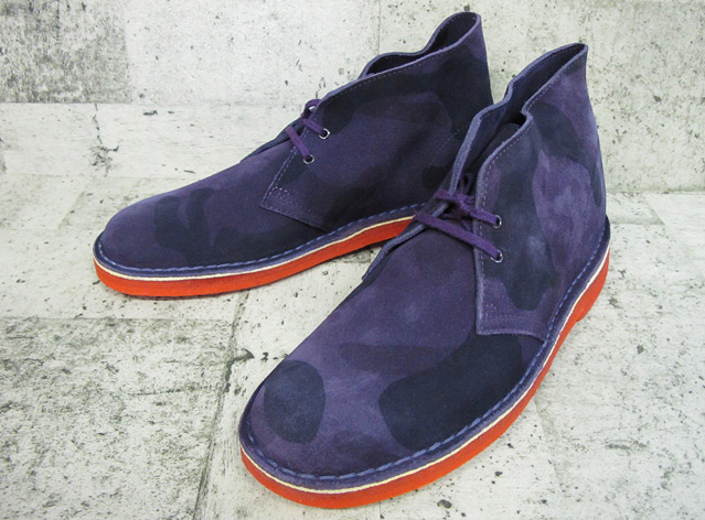 4cf34d8358a In the fixture of the kulaki desert boots CLARKS DESERT BOOT PURPLE CAMO  66302 men's crepe sole review