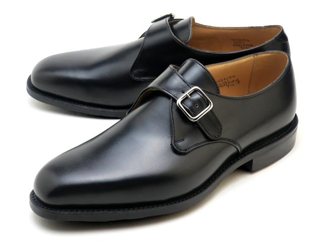 トリッカーズより伝統的なシングルストラップのモンクシューズ トリッカーズ メイフェアー 買い物 モンク ブラックボックス カーフレザー 宅配便送料無料 メンズ モンクストラップ シューズ シングルレザーソール イングランド製 Tricker's Mayfair ENGLAND Leather MADE Monk Box Black Single Sole 6141 Shoe IN