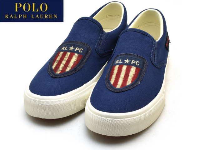 fa25f5ea Polo Ralph Lauren Thompson P men sneakers slip-ons POLO RALPH LAUREN  THOMPSON P SLIP-ON Newport navy NEWPORT NAVY 816694619003