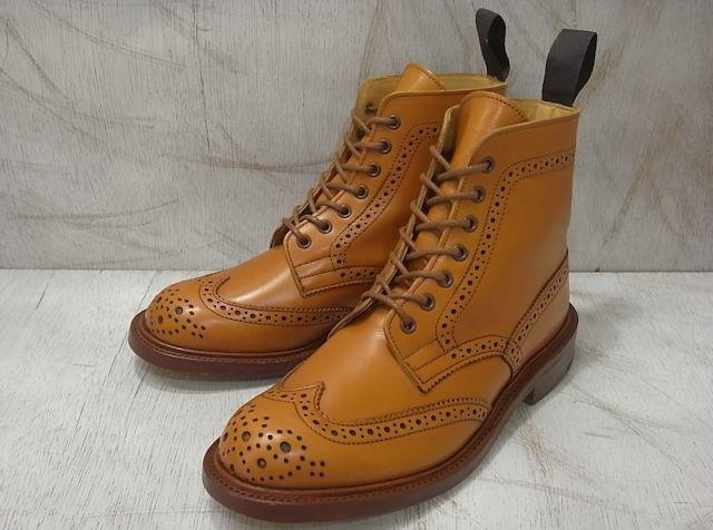 トリッカーズ カントリーブーツ レディース ウィングチップ エイコンアンティーク レディース ブーツ Tricker's L5180 Brogue Boot Acorn Antique