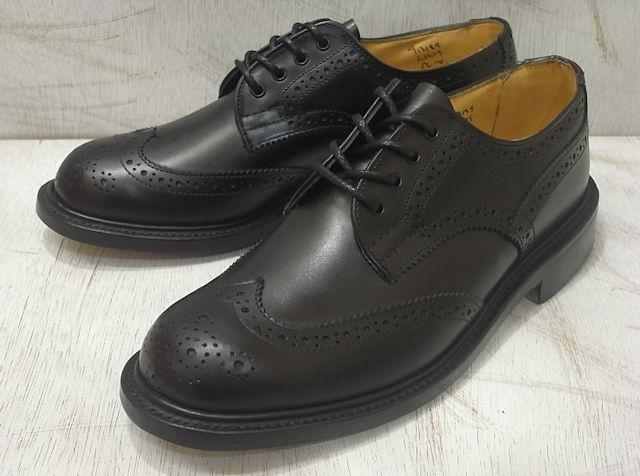 トリッカーズ バートン レディース カントリーブーツ ウィングチップ ブラックボックスカーフ レディース ブーツ Tricker's L5679 Brogue Shoe Black Box Calf