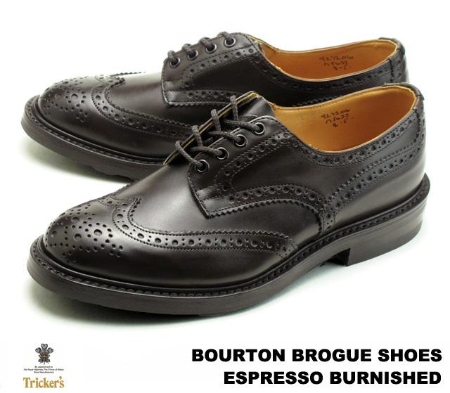 トリッカーズ バートン カントリーブーツ ウィングチップ エスプレッソバーニッシュ メンズ ブーツ Tricker's M5633 Bourton Country Shoe Espresso Burnished