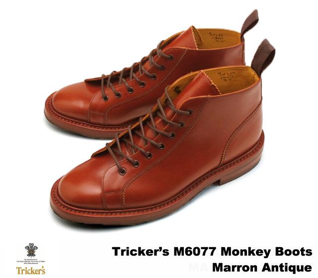 トリッカーズ モンキーブーツ マロンアンティーク メンズ ブーツ ダイナイトソール Tricker's M6077 Monkey Boots Marron Antique