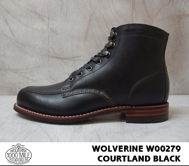 0bf2a075ca8 Wolverene 1,000 miles boots sheepberry wink ROM Excel WOLVERINE W00279  COURTLAND 1000 MILE MOC-TOE BOOT 1,000 miles men's boots