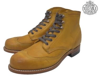 ウルヴァリン 1000マイルブーツ タン ホーウィンインフェルノ WOLVERINE W05343 ADDISON 1000 MILE WINGTIP BOOT 1000マイル ウィングチップ メンズ ブーツ