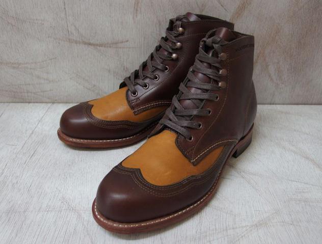 ウルヴァリン 1000マイルブーツ ウィングチップ ブラウン/タン ホーウィン クロムエクセル レザー メンズ ブーツ ウルバリン WOLVERINE ADDISON 1000 MILE WINGTIP BOOT W06000 Brown Tan MADE IN USA