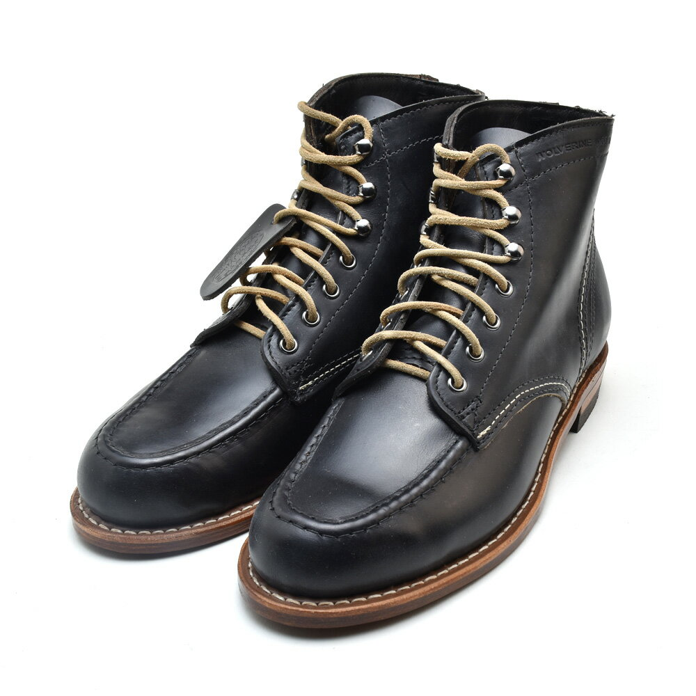 ウルヴァリン 1000マイルブーツ 6インチブーツ ブラック エセックスレザー メンズ ブーツ WOLVERINE W40504 1000 MILE 6INCH BOOT BLACK LEATHER