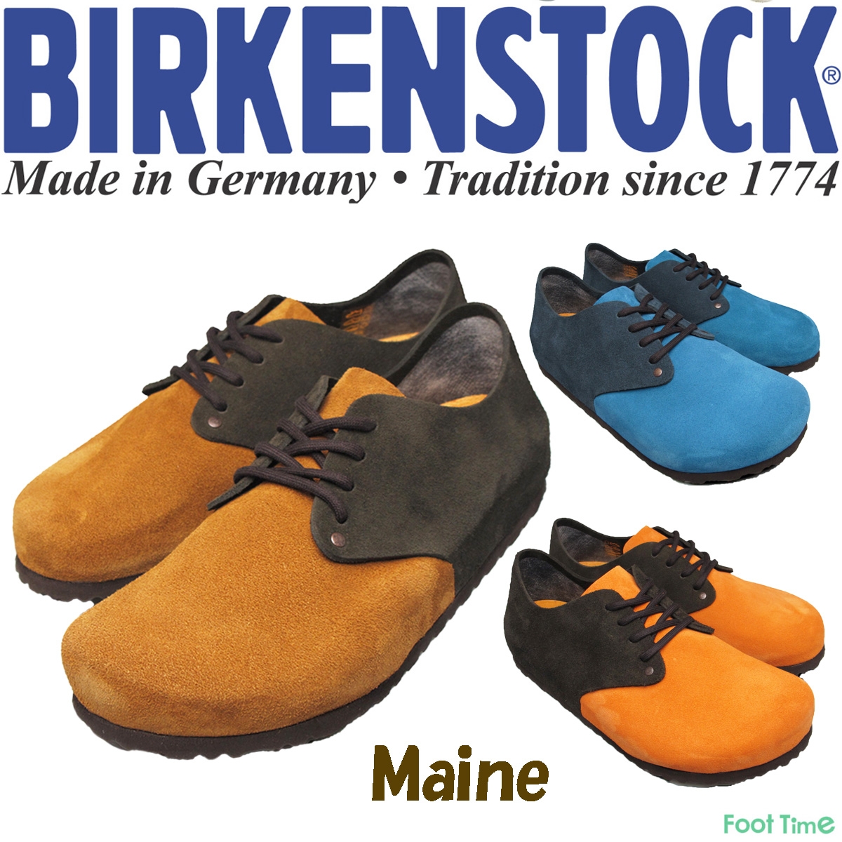 In the promise of Birkenstock main 3 color BIRKENSTOCK MAINE 672171 672181 672191 NAVY