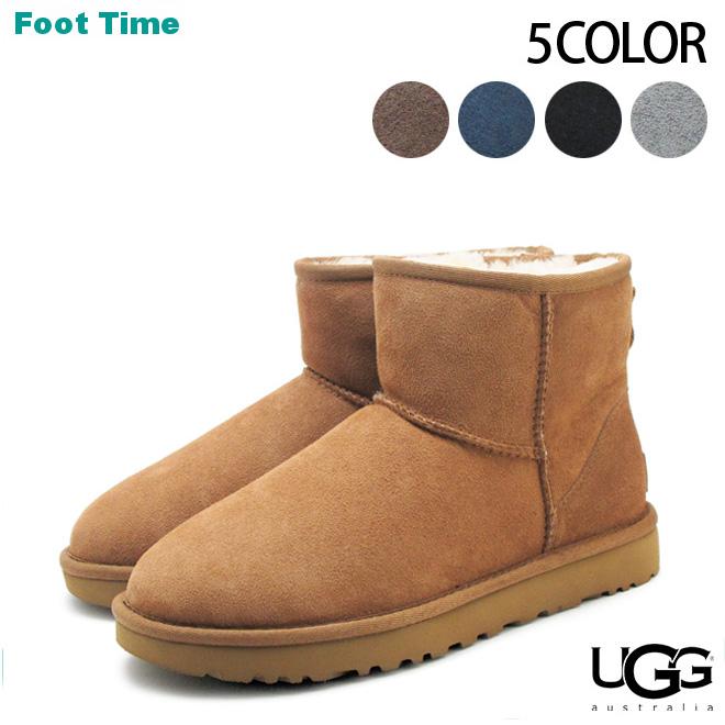 a6590191a3a Ugg Classic mini II UGG CLASSIC MINI II 1016222 5COLOR black / chestnut /  chocolate / grey / Navy ladies Sheepskin boots Sheepskin