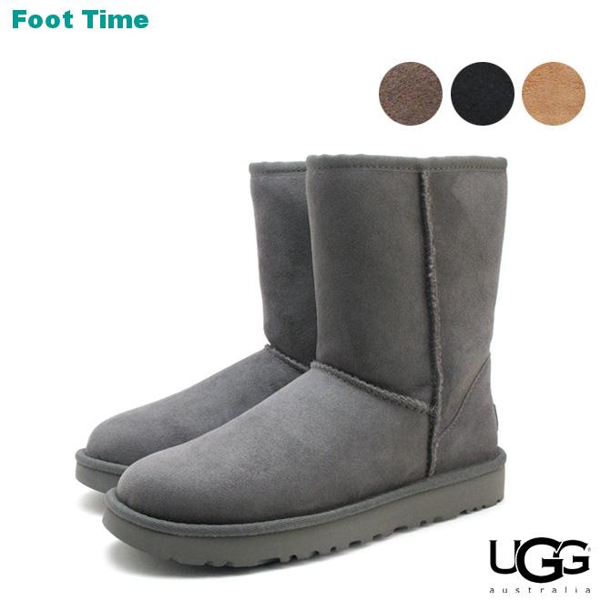 0481608380fee Ugg Classic short II UGG CLASSIC SHORT II 1016223 4COLOR black   chestnut    chocolate   grey women s Sheepskin boots Sheepskin