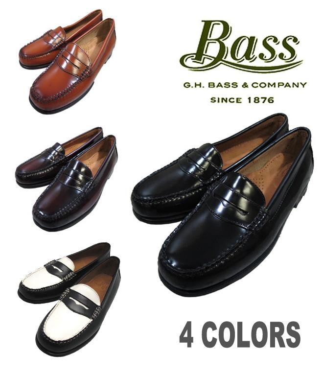 G.H.BASS WAYFARER ladies ' model BLACK BURGUNDY BROWN