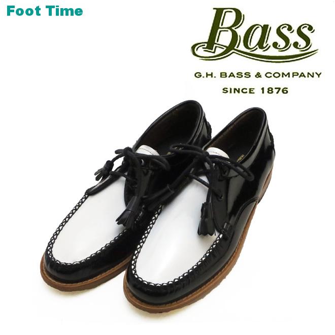 G.H.BASS WINNIE バス ウィニー 【Lady'sサイズ】BLACK/WHITE ブラック/ホワイト