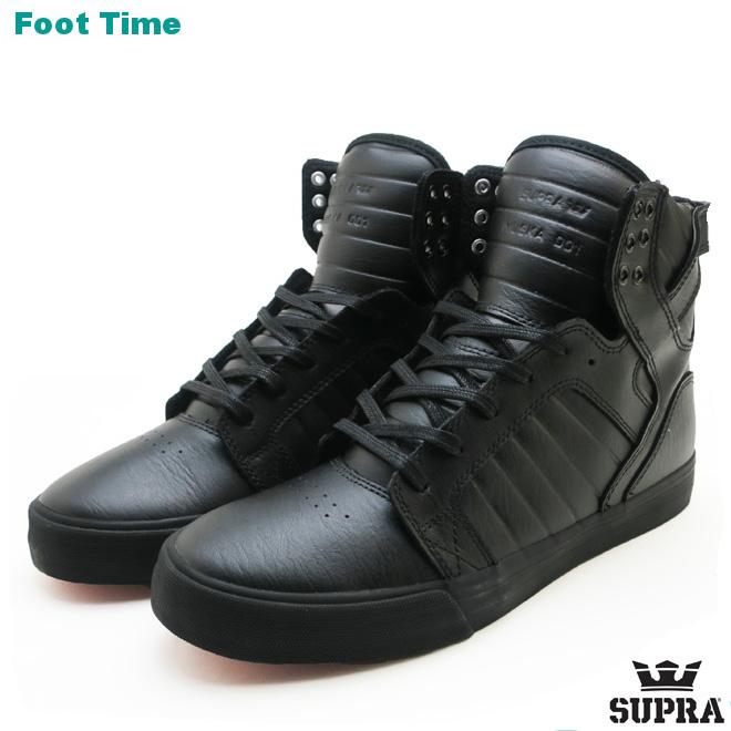 スープラ スカイトップ クラシックス SUPRA SKYTOP CLASSICS メンズ スケート スニーカー レザー ブラック/ブラック-レッド BLACK LEATHER/BLACK-RED 08003-081