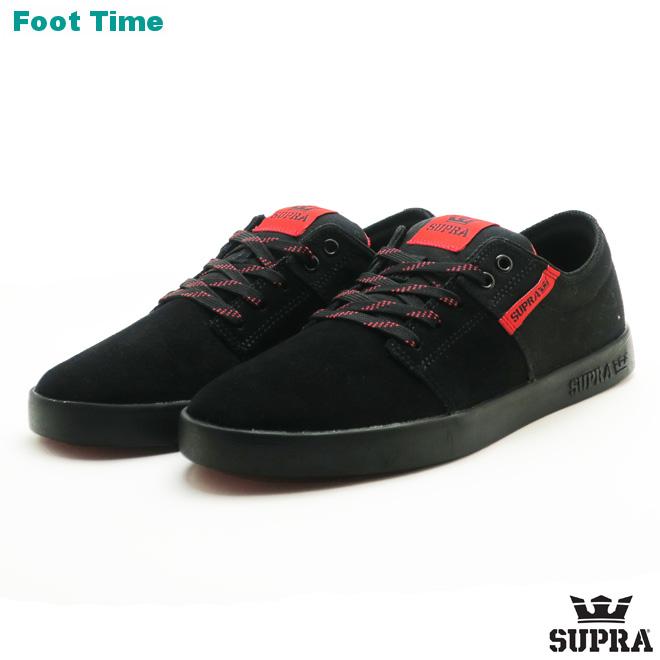Surpra Stax II SUPRA STACKS II black   risk red - black BLACK RISK RED-BLACK  08183-012 men s skating sneakers 483669093