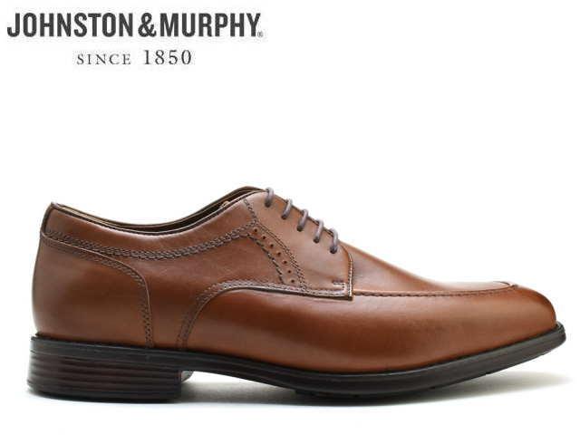 ジョンストン&マーフィー Uチップ JOHNSTON&MURPHY U TIP タンTAN Uチップ 撥水レザー Eワイズ メンズ シューズ ビジネス ドレス 靴