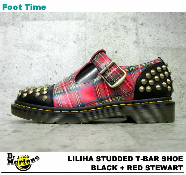 博士马滕斯莉莉丝螺柱 T 酒吧鞋 Dr.MARTENS LILIHA 镶嵌 T 酒吧鞋黑色 + 红色斯图尔特 15348615 在女装鞋点评