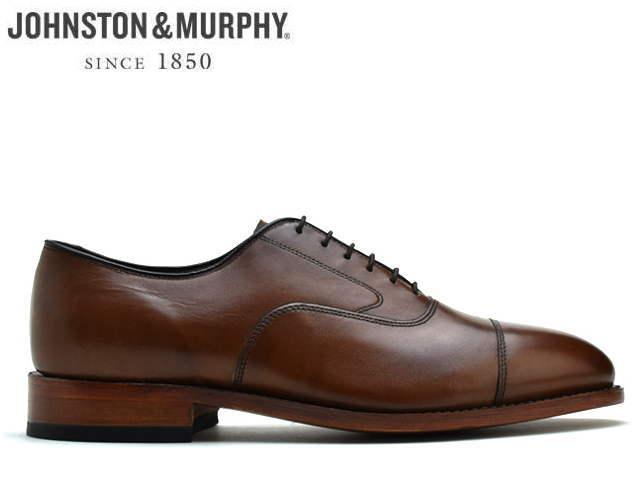 ジョンストン&マーフィー ストレートチップ JOHNSTON&MURPHY MELTON CAP TOE タンTAN ストレートチップ カーフレザー Eワイズ メンズ シューズ ビジネス ドレス 靴