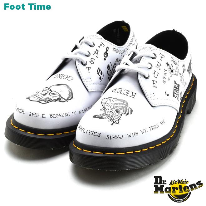 Dr.MARTENS 1461 SCRIBBLE 3EYE OXFORD SHOE ドクターマーチン 1461 スクリブル 3ホール オックスフォード WHITEホワイト 靴 メンズ靴 レディース靴 R25246101