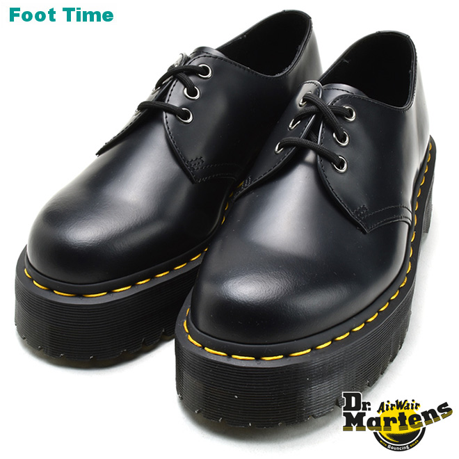 Dr.MARTENS 1461 QUAD 3EYE OXFORD SHOE ドクターマーチン 1461 クアッド 3ホール オックスフォード BLACKブラック 靴 メンズ靴 レディース靴 厚底 R25567001