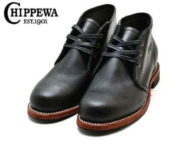 チペワ プレーン トゥ チャッカブーツ CHIPPEWA CHUKKA 新品 送料無料 boots 1901G55 BOOTS mens 卓越 ブラック メンズ