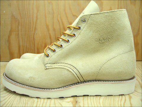 Workshop of Red Wing Classic 6 inch round toe REDWING CLASSIC WORK 6 ROUND TOE SAND SUEDE sand suede #8167 review promises on sucker equipment gift planning underway!