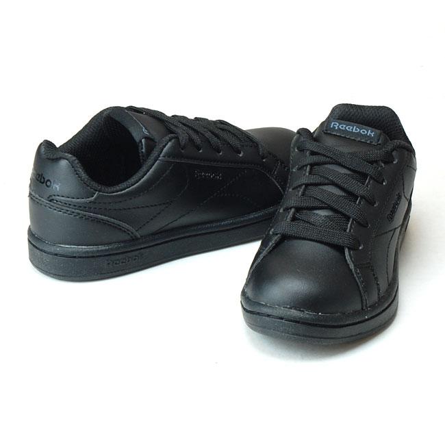 3767baa909d85 リーボックロイヤルコンプリートクリーンキッズスニーカーReebokRoyalCompleteCLNBS6156ブラックジュニア運動靴(1811)(E