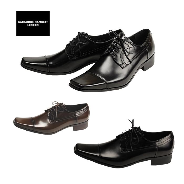キャサリンハムネット KATHARINE HAMNETT 3947 ビジネスシューズ メンズ ストレートチップ 紳士靴 ブラック ダークブラウン 24.5cm~27.0cm 紳士靴 本革 成人式 就活 リクルート 就職