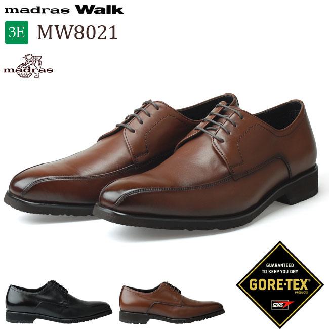 【16%OFF】【送料無料】 マドラス マドラスウォーク MW8021 メンズ ビジネスシューズ madras Walk 本革 3E 防水 ゴアテックス ブラック ブラウン 黒 茶 セミスクエアトゥ 外羽根 革靴 (1805)(北海道・沖縄は追加送料がかかります)