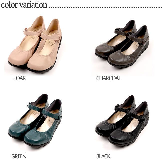 19b6f8eff1e9 FIRST CONTACT MADE IN JAPAN Women s Ballerina leather shoes Slipsole heel  39056